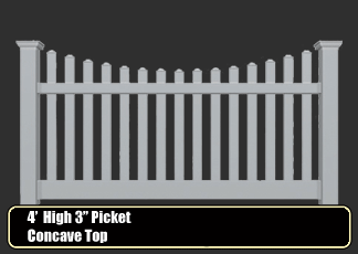 "vinyl picket fence - 1.5"" spindle"