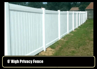 Vinyl Fence - Privacy Fence